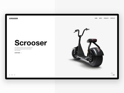 Scrooser - Website Concept web ux ui website online minimal scrooser landing typography free design
