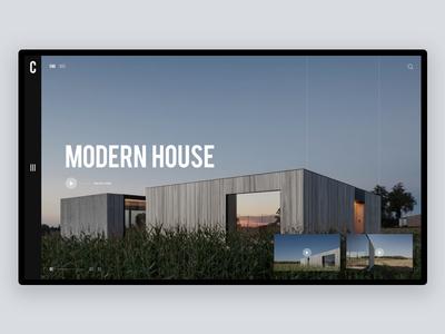 Caswes House - Website design free typography landing architecture minimal online website ui ux web