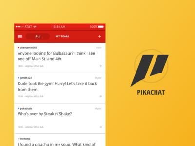 PikaChat pikachat screen logo pokemon chat