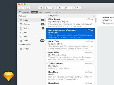Apple Mail - Sketch email ui mockup sketch apple mail