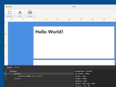 Mailr - HTML Email Builder ui code ux design app html email email macos