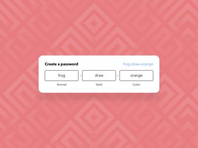 Create a secure password fields secure input password