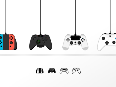 Console controls console control video games icon illustration