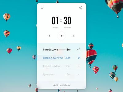 Meeting Timer ui app timer meetings