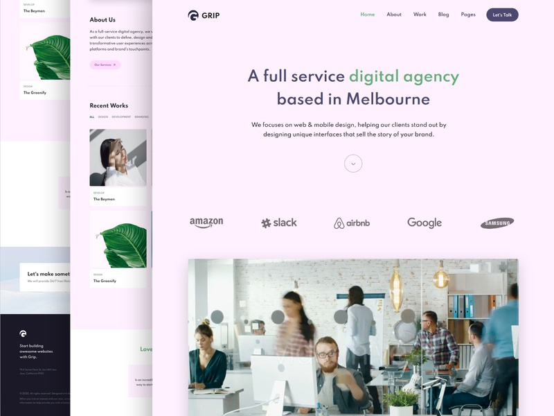 Digital agency landing page template css design landing page design landing page agency landing page agency website agency website web template ui webdesign