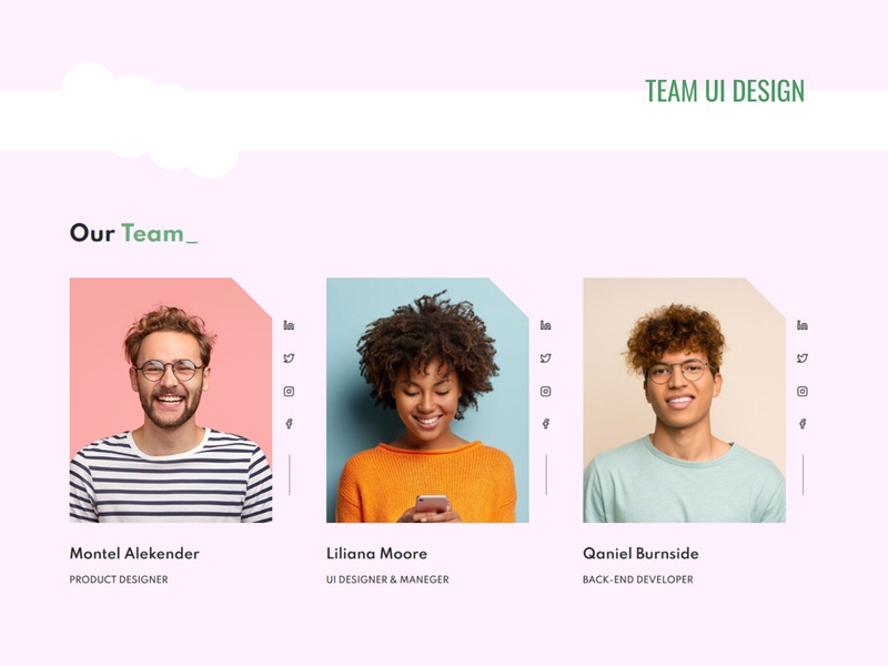 Team UI design template website web ui design design css team ui ui webdesign