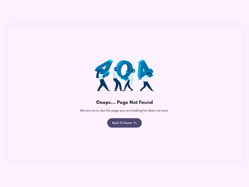 404 Page UI design landing page design css design website web webdesign ui