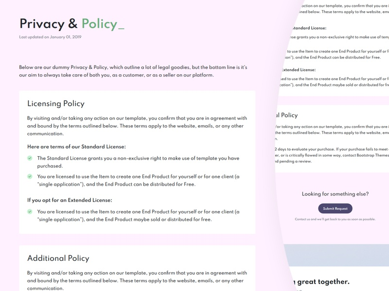 Privacy & Policy privacy policy privacy landing page design website web ui