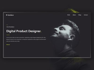 Kondaco - Portfolio Website website typography webdesign personal template template portfolio web ui design