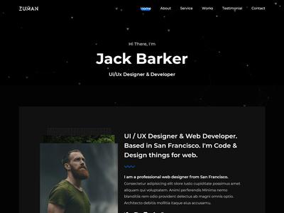 Creative Personal Portfolio portfolio webdesign ux ui website template personal template