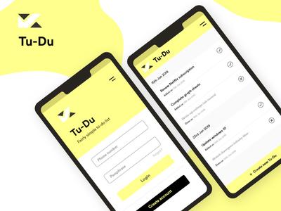 Tudu, a to-do list prototype