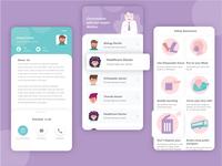 Health care category UI ios dribbble minimalist details safety awareness category uiux ui design app