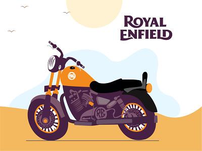 Royal enfield illustration dribbble dailyui affinity design artwork illustration royalenfield design