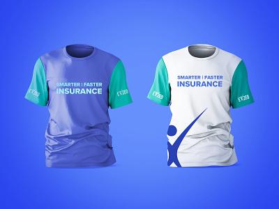 T shirt Branding Design merchandise exzeo insurance typography dailyui illustration branding
