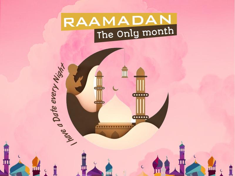 Ramadan Kareem dailyui dribbble happyness worship prayer months illustration design dates ramadan
