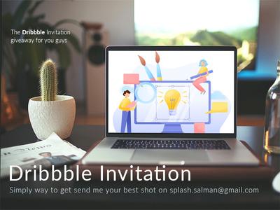 Dribbble Invitation logo designer illustration webdesign dailyui invite dribbble invitation dribbble giveaway