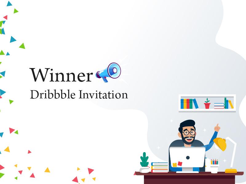 Invitation Winner typography dailyui design dribbble invitation giveaway dribbble