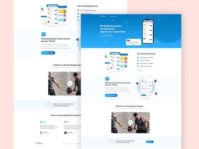 Fitguru User Interface landing page userinterface daily ui uidesign dribbble website concept app ui ux design design