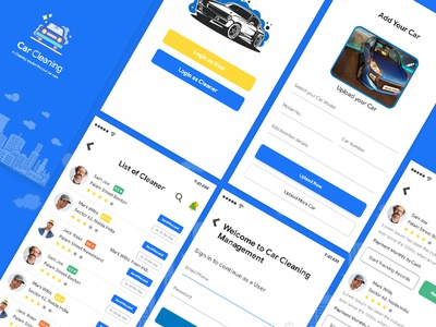 Car Cleaning App parking cleaning app location designer dailyui ios dribbble uiux wireframe