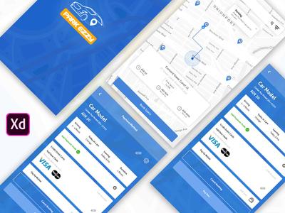 Park Ezzy App Concept ios dailyui location dribbble design parkingapp uiux