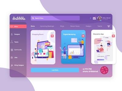 Dribbble Dashboard illustration ux design hireme daily ui design dribbble best shot dashboard dailyui dribbble