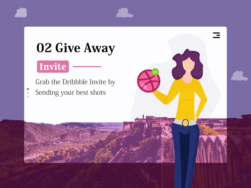 Dribbble Invite illustration ui invite giveaway