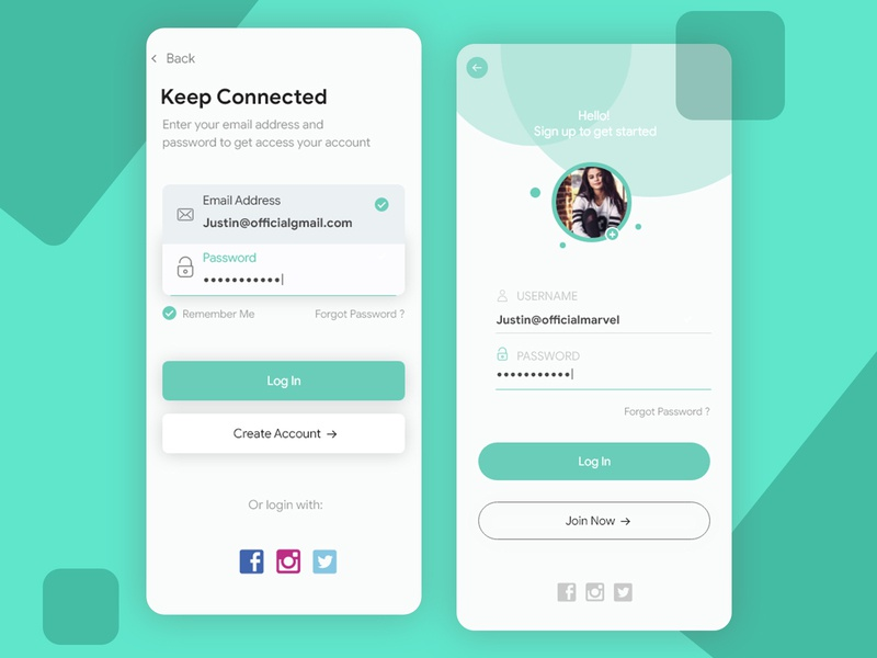 Login UI Concept uiux design futuristic ios app login dailyui