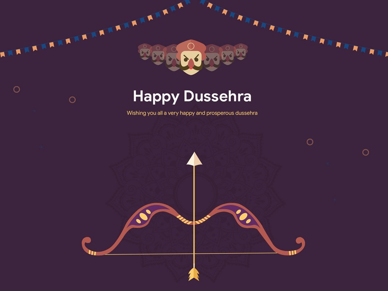 Happy Dussehra dailyui uiux illustration india graphics celebration festive creative celebrations