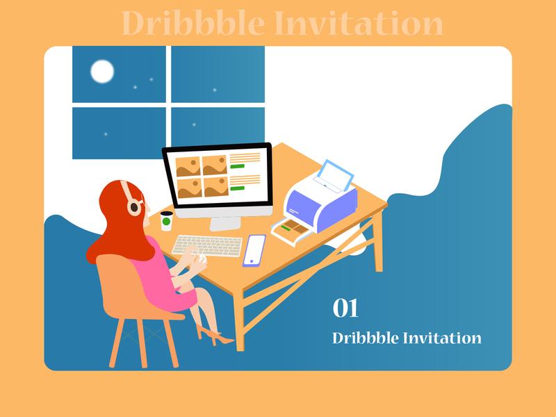 Dribbble Invite dribbble invite bestshot invite giveaway daily illustration dribbble invite