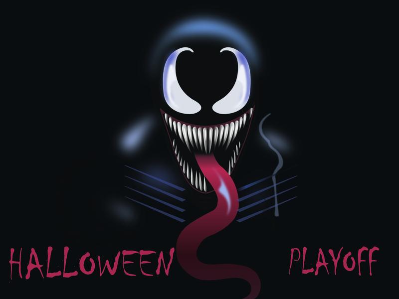 Halloween playoff! Venom illustration rebound giveaway stickers custom contest