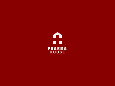 Pharma House logo concept pharma mark house logo