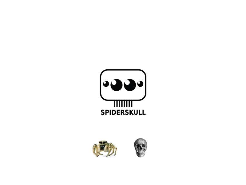 SpiderSkull icon vector illustration creative logo nikstudio concept simple sketch spiderskull skull spider