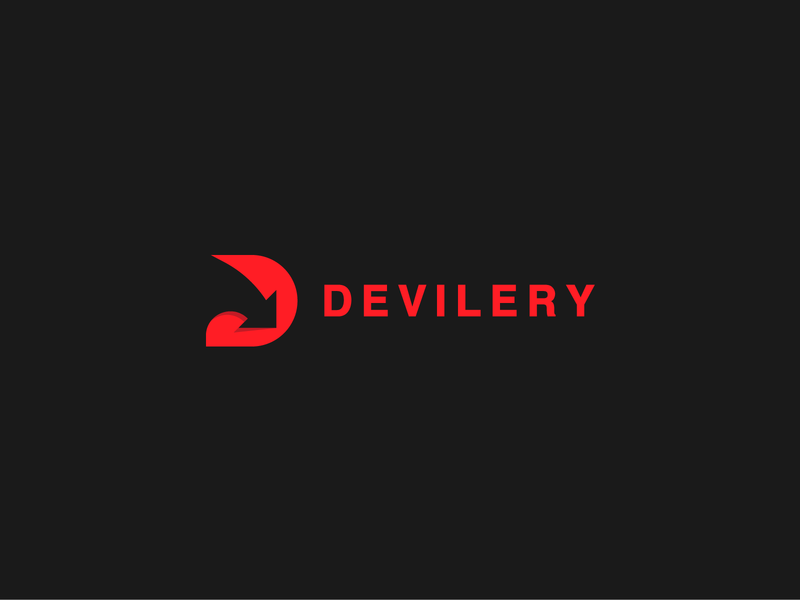 DEVILERY monogram design illustration simple symbol nikstudio mark creative logo concept delivery