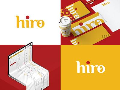 hiro ux ui design branding logo creative monogram textlogo