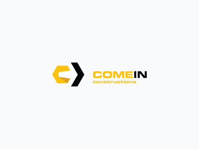 COMEIN Constructions 3d vector arrow monogram creative concept c simple 99designs yellow construction logo cominconstructions