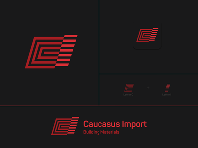 Caucasus Import creative illustration brand identity monogram symbol logotype brand branding