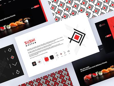 Sushi Online branding sushi online sushilogo sushi creative mark symbol simple logo
