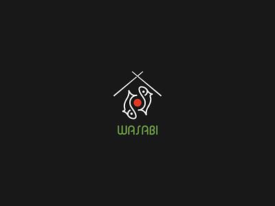Wasabi roll black design creative illustration branding symbol logo yin and yang sushi logo sushi sushilogo