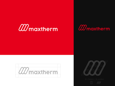 Maxtherm Rebranding brand branding symbol simple