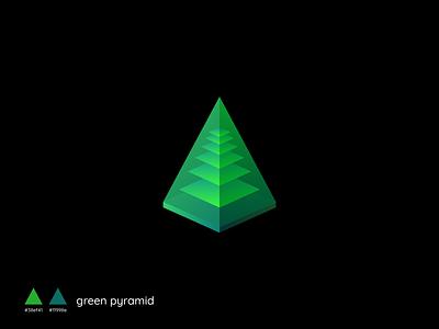 Green Pyramid vector concept design branding illustration creative green pyramid pyramid