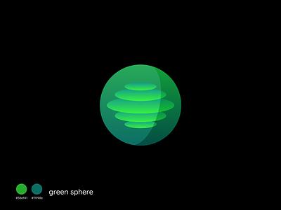 Green sphere vector concept branding illustration creative sphere