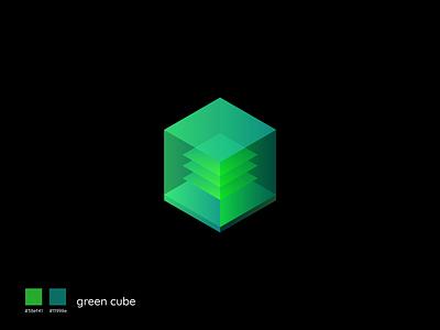 Green Cube design creative vector symbol branding illustration green cube green cube