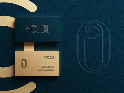 Hotel wordmark logo concept typography vector branding monogram simple creative wordmark logo wordmark hotel logo