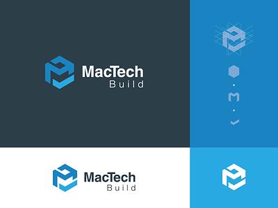 MacTech design branding simple arch logo architecture architecture design mactech