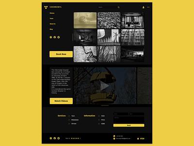 Chernobyl Tours landing page web design creative concept design web travel chernobyl tours chernobyl