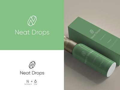 Neat-Drops mark logo illustration branding design symbol simple creative drops cosmetic neat drops neatdrops