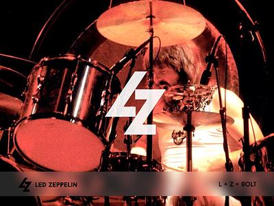 Led Zeppelin branding negativspace band bolt led zeppelin