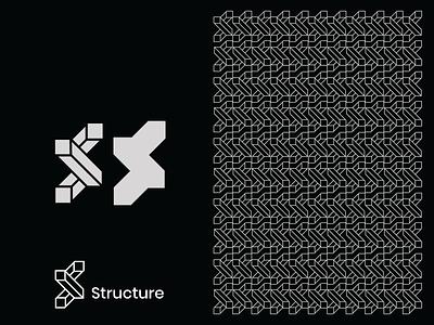 Structure illustration design concept creative simple branding s icon architecture building structure