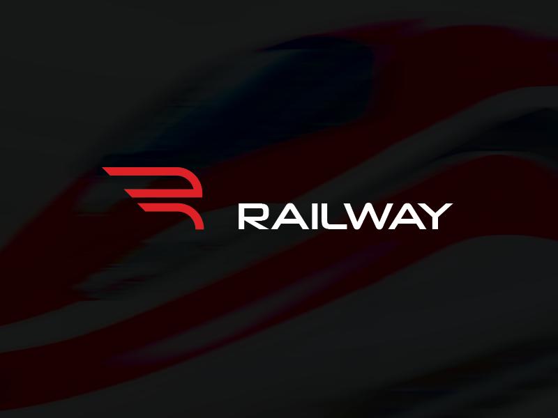 Railway concept logo railway