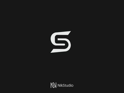 S5 negative space logo negative space simple sketch sport white black logo symbol mark 5s s5 s